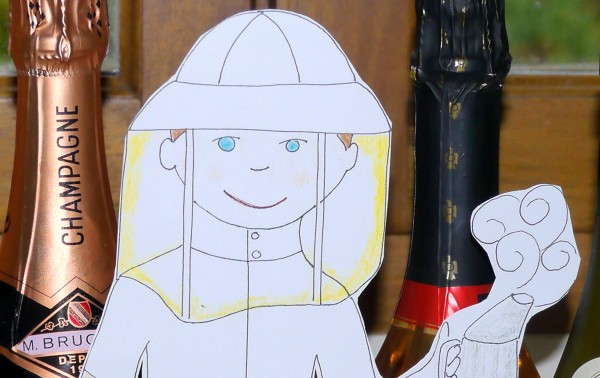 Flat Stanley has a penchant for fine French champagne.